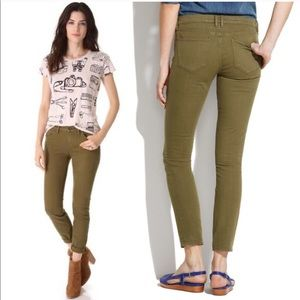 Madewell Skinny Skinny Ankle Jeans in Olive Green